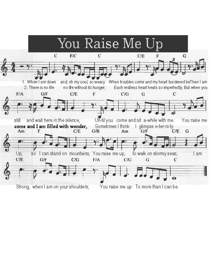 you raise me up chords : harof